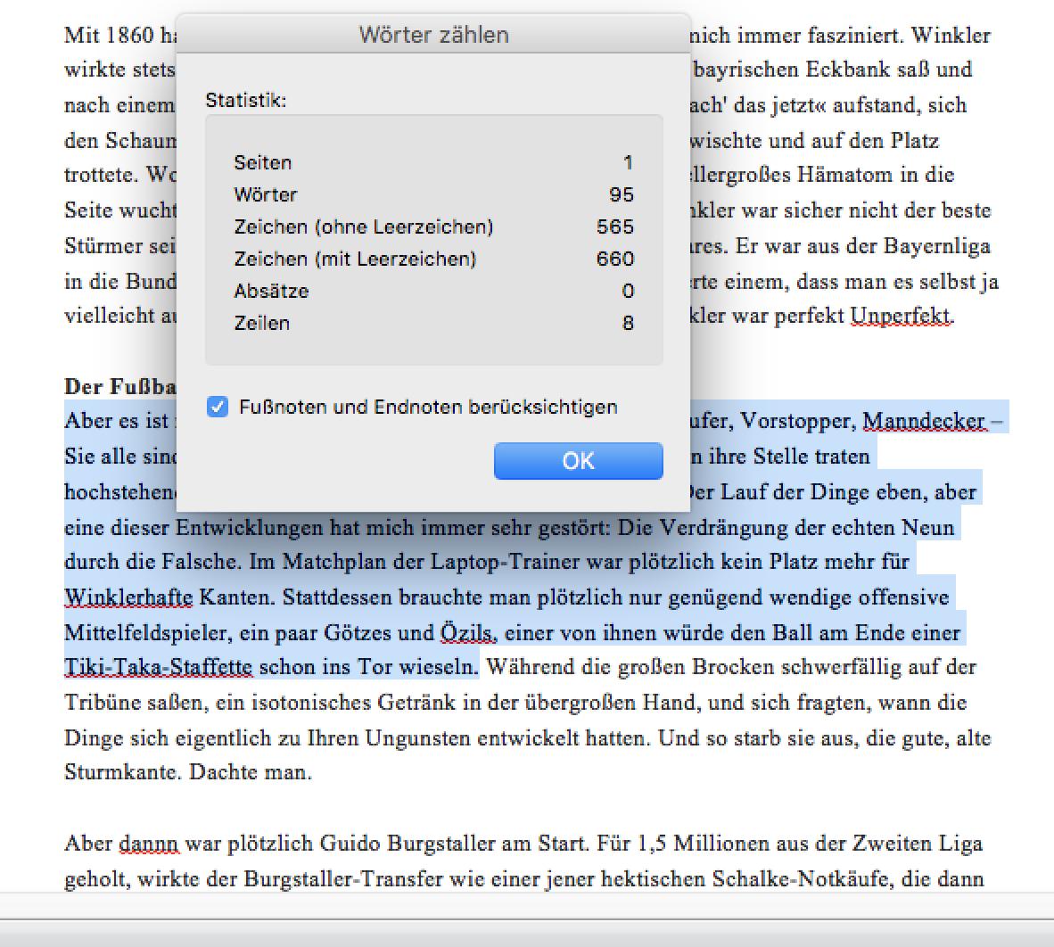 Zeichen zählen Word - Zeichenzähler bei Microsoft Word